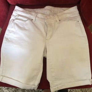 Ann Taylor white denim shorts